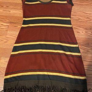 Double D Ranch Striped Fringe Dress Size Medium